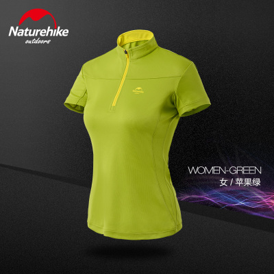 Have LOGO V stand collar t-shirt for women short-sleeve t shirt men lovers quick-dry hiking running Breathable comfortable thin