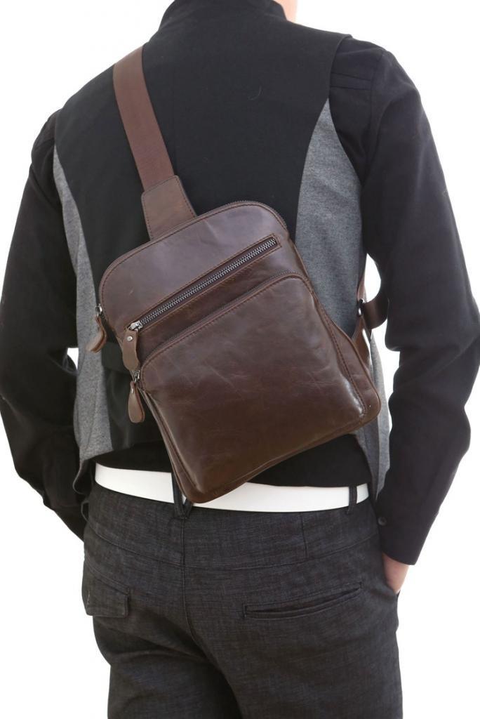 8-genuine leather waist bag