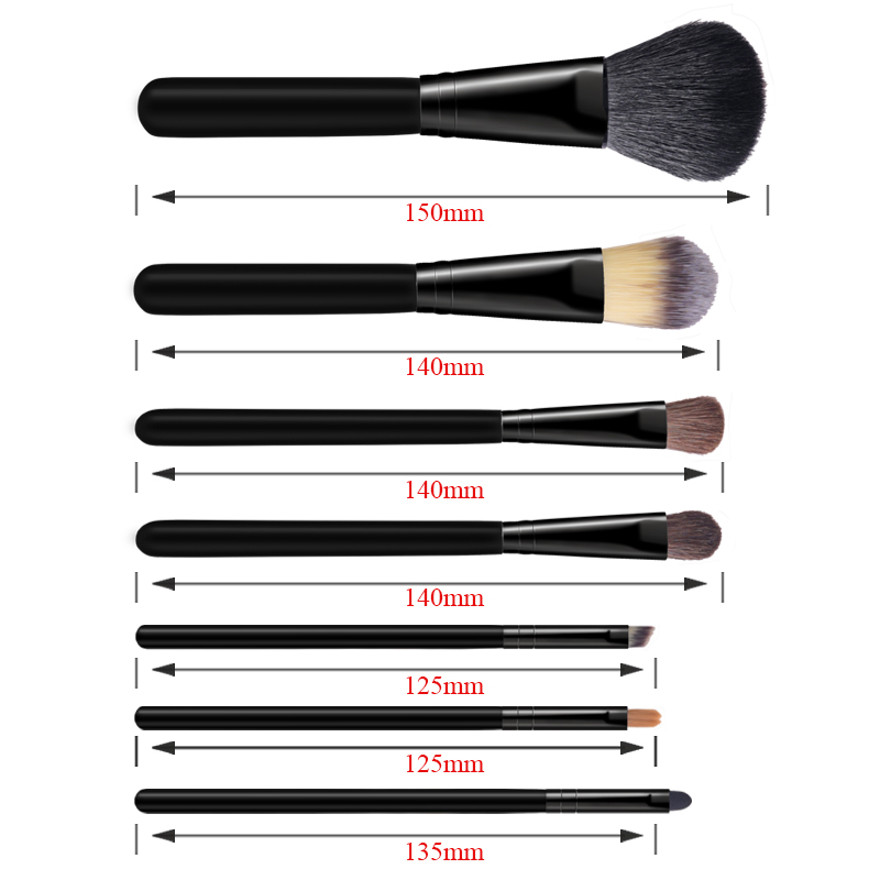 Black Makeup brushes kabuki cosmetic beauty tools powder face brushes (3)
