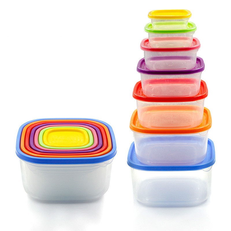 Safe Storage Containers Part - 20: 7-Piece Leak-Proof Microwave And Fridge Safe Portion Control Container Kit  With Multi-color Lids,Ideal Food Storage Containers