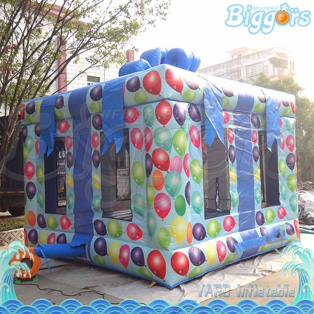 Free Sea Shipping Commercial Small Inflatable Bouncy Castles Trampoline with Gift Box Shape