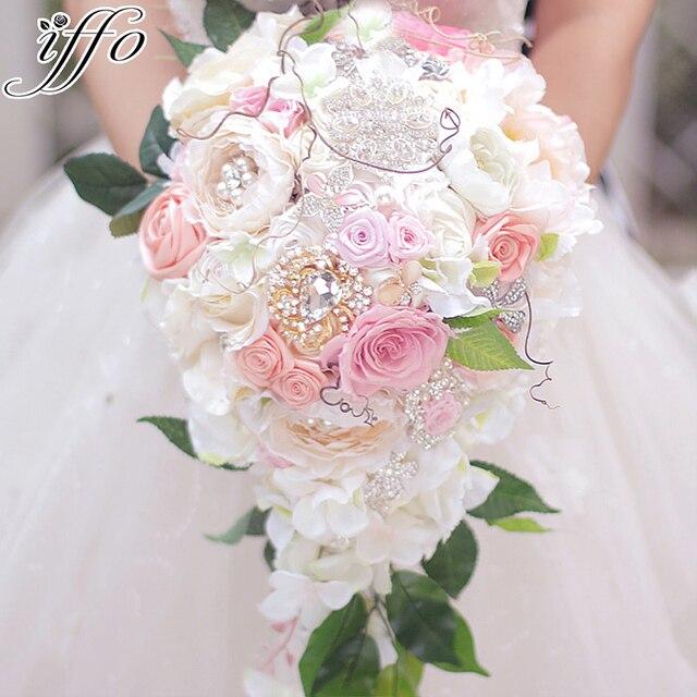 Schone Hochzeit Bouquet Braut Wasserfall Stil Bouquet Unsterblich