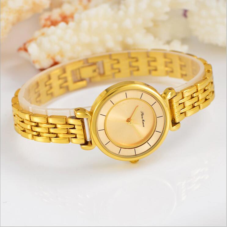 2018 Lüks Kristal Gül Altın Saatler Kadınlar Moda Bilezik Kuvars - Kadın Saatler - Fotoğraf 4