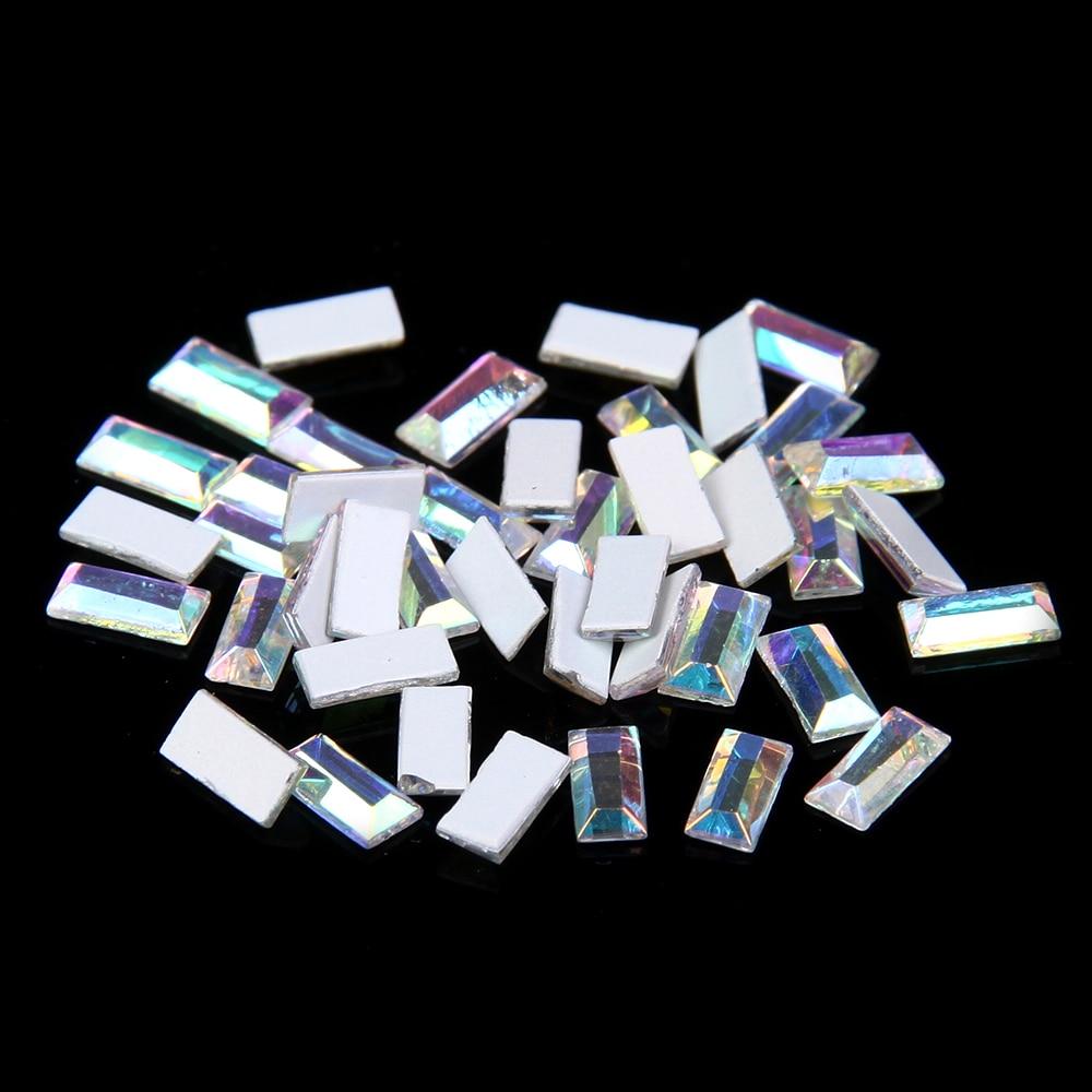 ᗗ50 unids vidrio Piedras DIY Diamantes con piedras falsas para ...