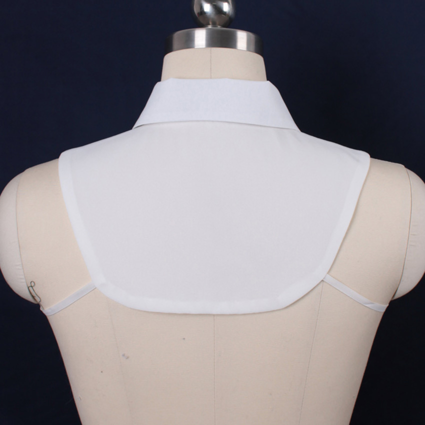 Classic diamond Shirt Fake Collar White Black Tie Vintage Detachable Collar False Collar Lapel Blouse Women Clothes Accessories
