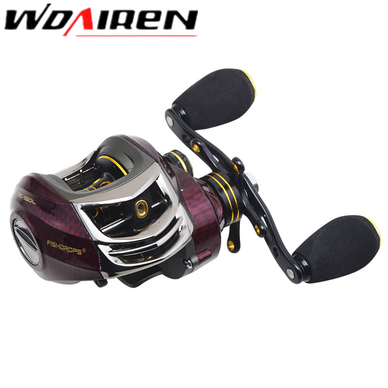 NEW BC-150L Carbon Baitcasting Reel 18 Ball Bearings Carp Fishing Bass Fishing Left Handed Right Hand Bait Casting