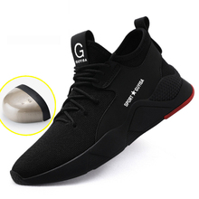 2019 New Men Boots Mens Work Safety Shoes Outdoor Steel Toe Sneakers Anti-smashing Military Combat Ankle