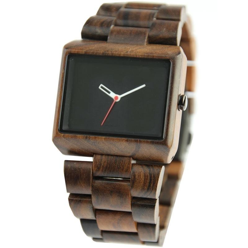 ФОТО Top Brand Rectangle Dial Luxury Light Weight Wood Waterproof Wooden Men Wrist Watch Women Ladies Quartz-Watch Relojes Mujer
