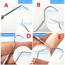 2 Pieces Dental  DG16 Probe Stainless Steel Periodontal probe with Scaler Explorer Instrument Tool Endodontic Implant
