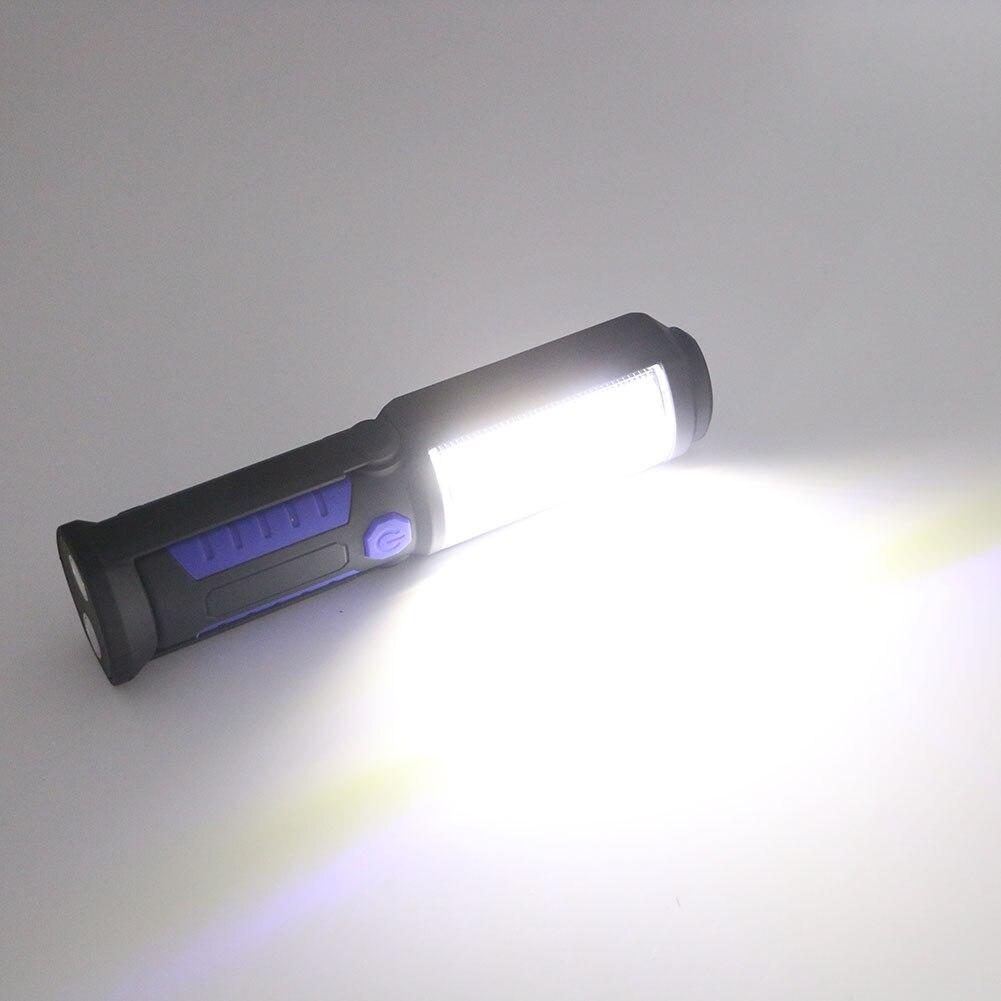 Sanyi  COB LED Linterna Recargable Luz de Trabajo Magnética Soporte Gancho Girat
