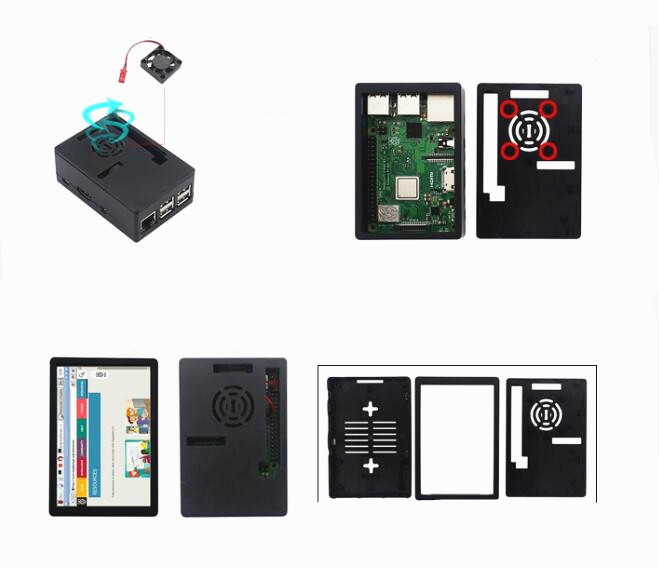 Image 4 - Raspberry Pi Model 3 B+ Starter Kit w/ 3.5inch  128M SPI LCD Display Power Heat sink-in Demo Board from Computer & Office