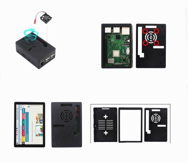Raspberry Pi modèle 3 B + Kit de démarrage avec 3.5 pouce 128 M SPI écran LCD dissipateur de chaleur - 4