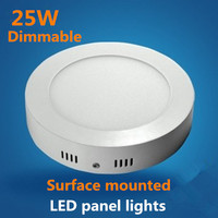 DHL10PCS Dimmable Round LED Surface mounted Panel Lights Absorb dome light 25W,SMD2835LED AC85 265V CE ROHS