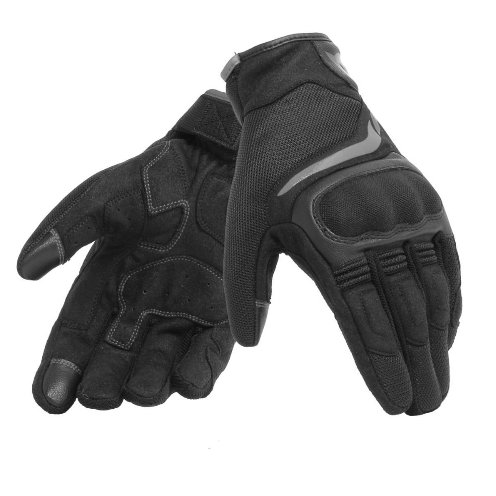 2019 Dain Short Leather Scout Moto Gloves Motocross EVO Racing Black White Motorcycle Gloves