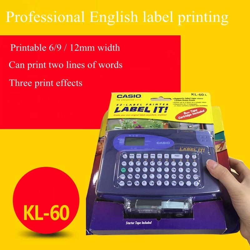 Original KL 60 L Portable English label machine can print 6 9 12mm label