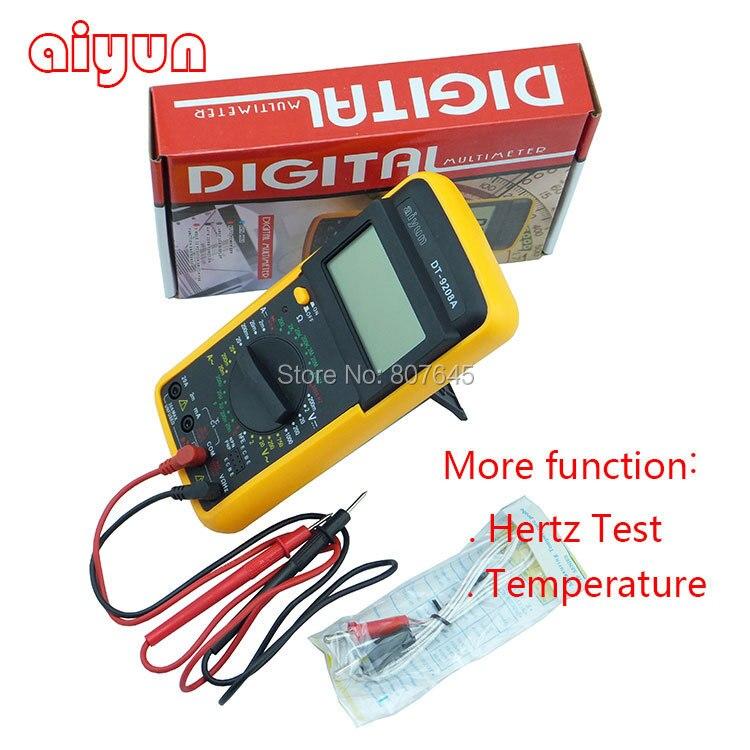Купить Цифровой мультиметр вольт ампер ом гц AC / DC тестер 8 Fuction DT9208A температуры, Герц тест дешево