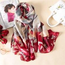 2018 new brand women scarf fashion summer soft long size shawls silk scarves wrap lady bandana pashmina cachecol