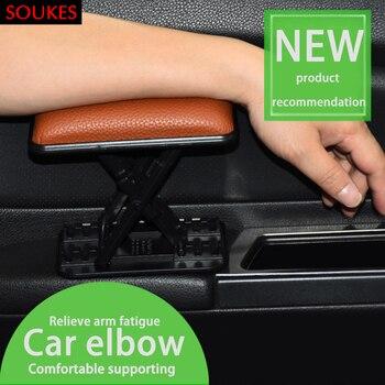 Lederen Auto Bestuurdersstoel Linkerhand Arm Armsteun Pad Voor Nissan Qashqai Opel Astra J H G Skoda Octavia a7 2 Volvo XC90 V70 Subaru
