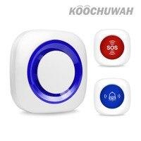 KOOCHUWAH Alarm System Wireless Sound Alert Home Alarm System Kit Sensor Siren Alarm with SOS Panic Button Doorbell for Security