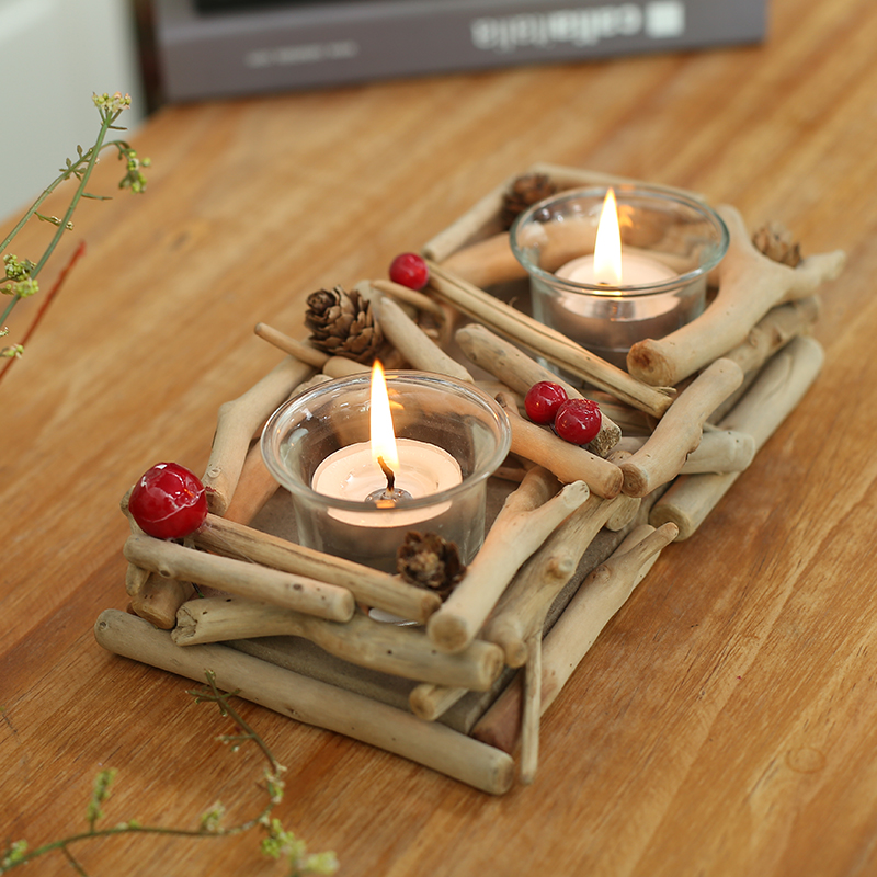 Wood Candle Holders Modern Wooden Candlestick Holder Matching Cup Small Tealight For Wedding Centerpieces In From Home