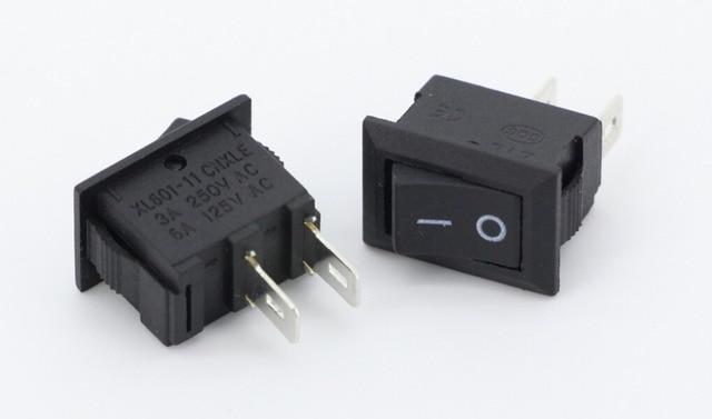 10PCS Ship type switch, 2pin Rocker Switch, 3A/250V 6A/125V AC KCD1