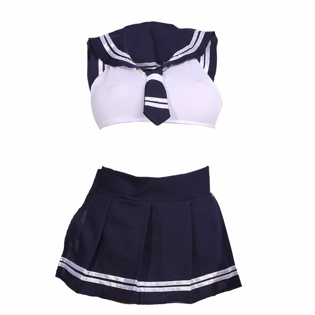 Women Cosplay Lingerie Girl Student Uniform Lingerie Babydoll Dress Sexy Erotic -5808