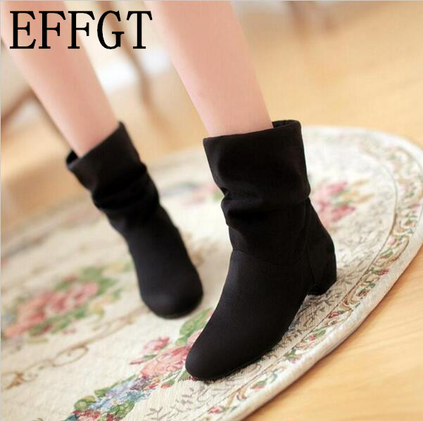 EFFGT 2017 autumn winter women boots scrub women's martin boots shoes fashion ankle boots comfortable women shoes free shipping