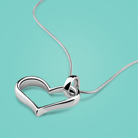 Simple Style Lady Heart Pendant 925 Sterling Silver Pendant Necklace Charm Jewelry Ladies Popular Solid Silver