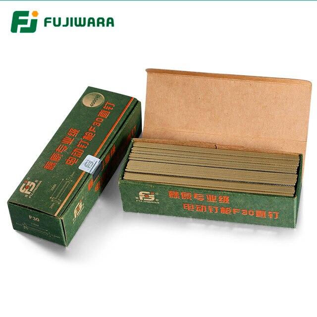 FUJIWARA Electric Pneumatic Nail Gun Straight Nail, U nail, F15/F20/ F25/ F30(15 30MM)  422J U (4mm width,22mm length)