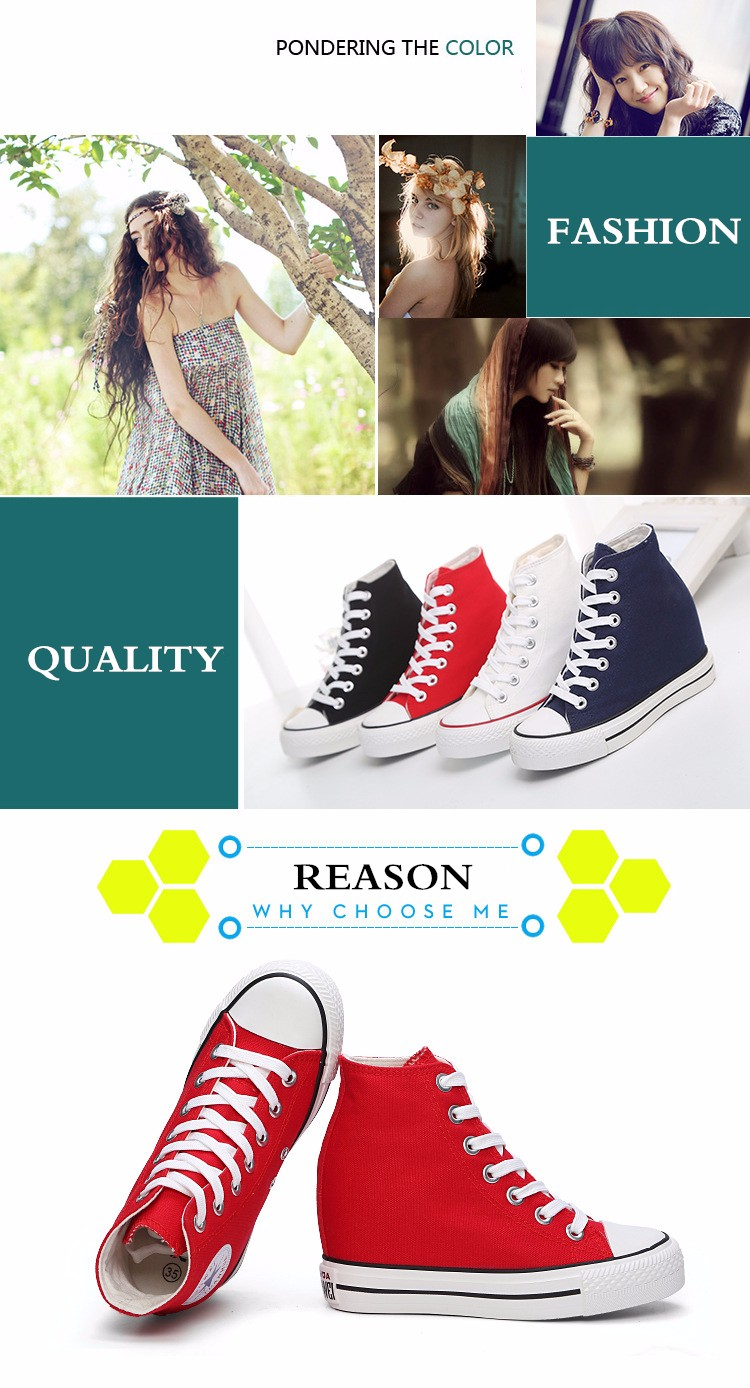 KUYUPP High Top Canvas Women Shoes Espadrilles Spring Autumn Womens Wedges Shoes Lace Up Casual Shoes For Female Sapatilha YD120 (23)