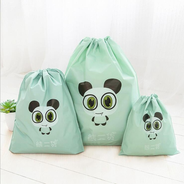 Cartoon Draw Pocket Travel Accessories Drawstring Bag Business Trip Storage Bag For Cloth And Shoe Functional Bag Box 3