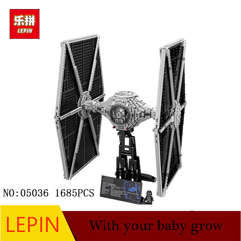 NEW LEPIN 05036 Star Holiday toy Wars 1685pcs TIE Model Fighter Building blocks Bricks Classic Compatible 75095 to Boys Gift new 1685pcs lepin 05036 1685pcs star series tie building fighter educational blocks bricks toys compatible with 75095 wars