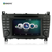 7″ Android Quad core HD mirror link Car DVD Radio Player Stereo For Benz C class W203 CLK W209 with IOKONE rotating UI CANBUS