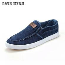 Men canvas new spring autumn fashion men's shoes male breathable comfortable casual lazy shoes men slip on round toe flats