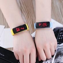 JOYROX Fashion LED Display Digital Sports Watch Hot Silicone Strap Children Wris