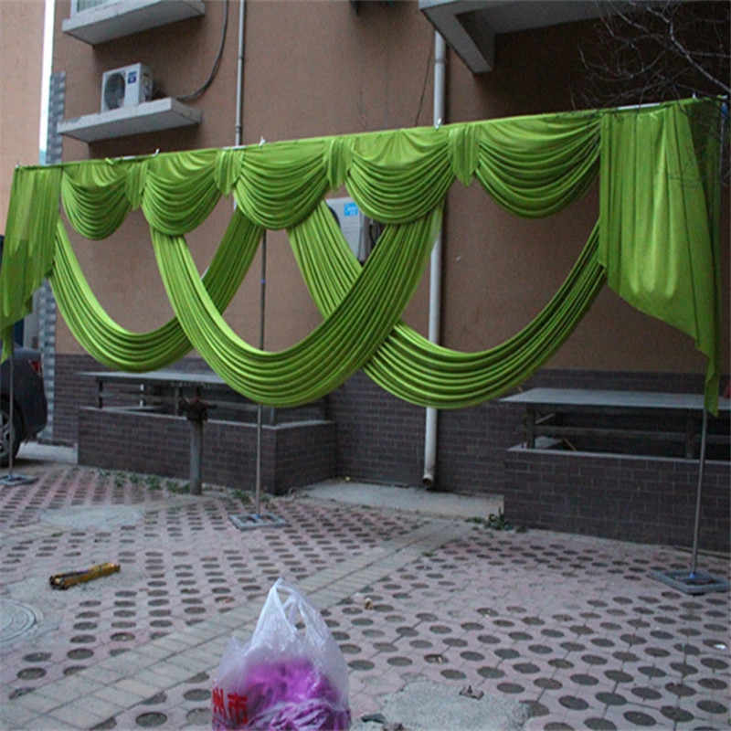 6 Meter Length Wedding Backdrop Curtain Swag Party Decoration Ice