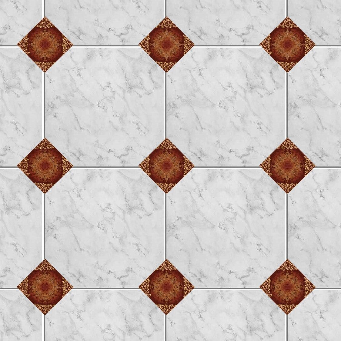 100 pièces Mubarak Style classique rétro carrelage autocollant étanche salle de bains cuisine mur autocollant décor à la maison plancher Art Mural