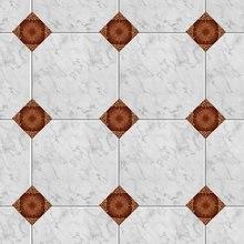 100pcs Mubarak Classical Style Retro Tile Sticker Waterproof Bathroom Kitchen Wall Sticker Home Decor Floor Art Mural