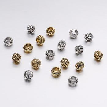 30pcs/lot 8mm Antique Gold Vintage Loose Spacer Beads For Jewelry Making DIY Charm Bracelet Findings Supplies Accessories