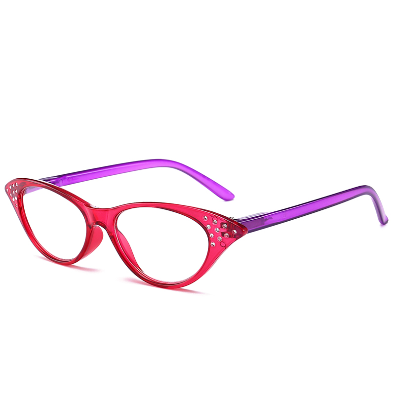 JN IMPRESSION High quality fashion color reading glasses womens ultra - light anti-fatigue glasses magnifying glass T18158 ...