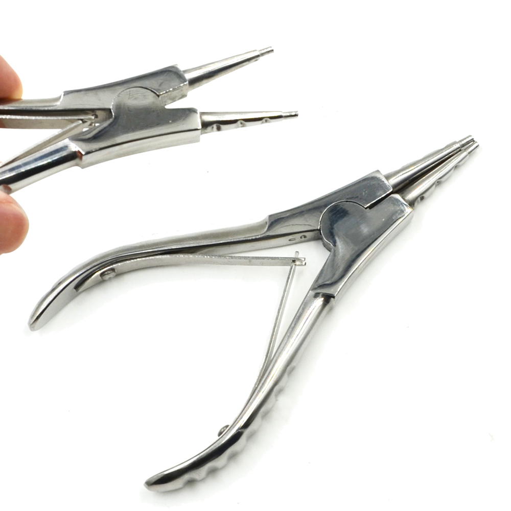 Stainless Steel Body Piercing Ring Open Plier Alat Pembuka Perhiasan Holding
