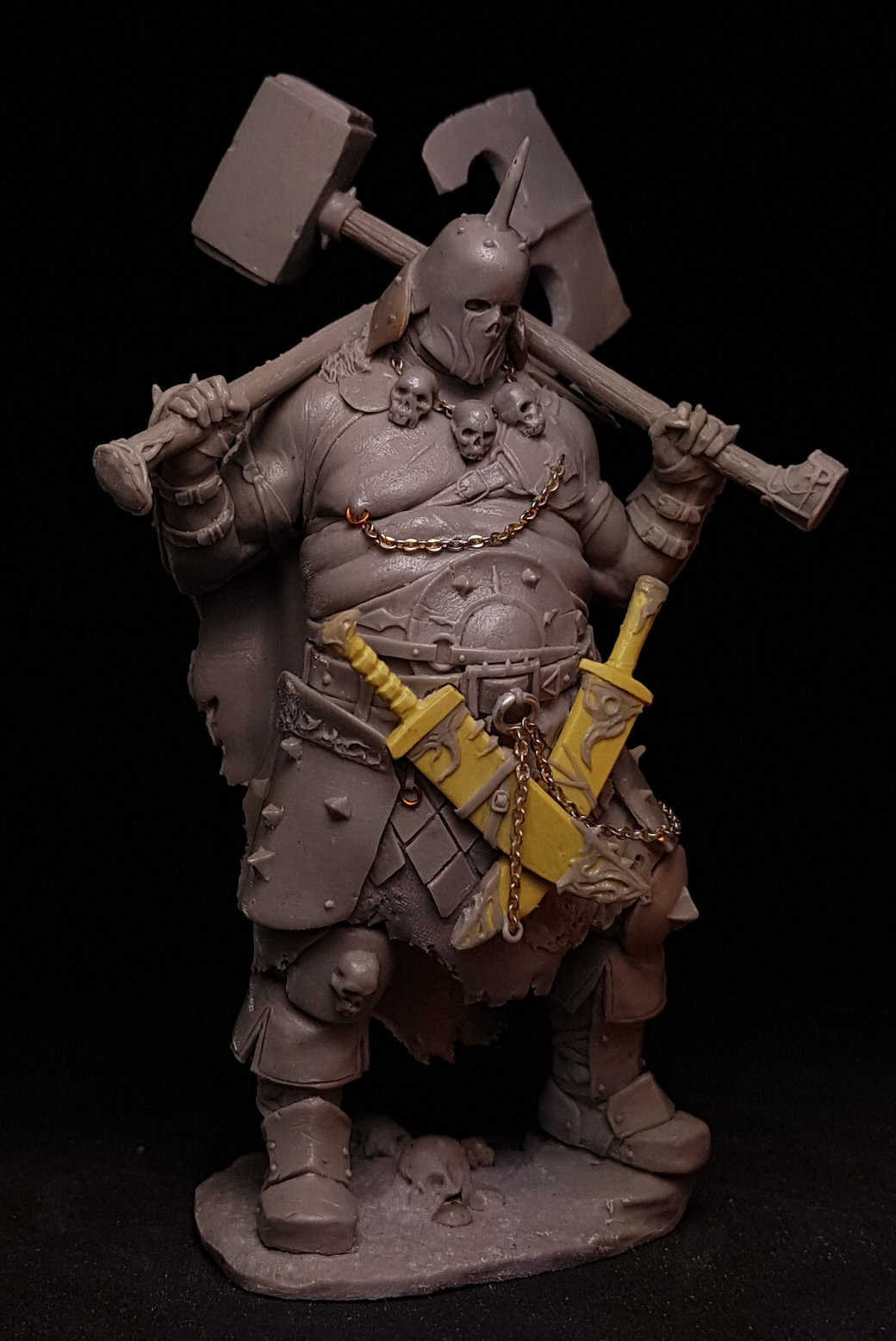 1//24 75MM Fight Wars Ancient Orc stand Battle include 2 Resin Miniature