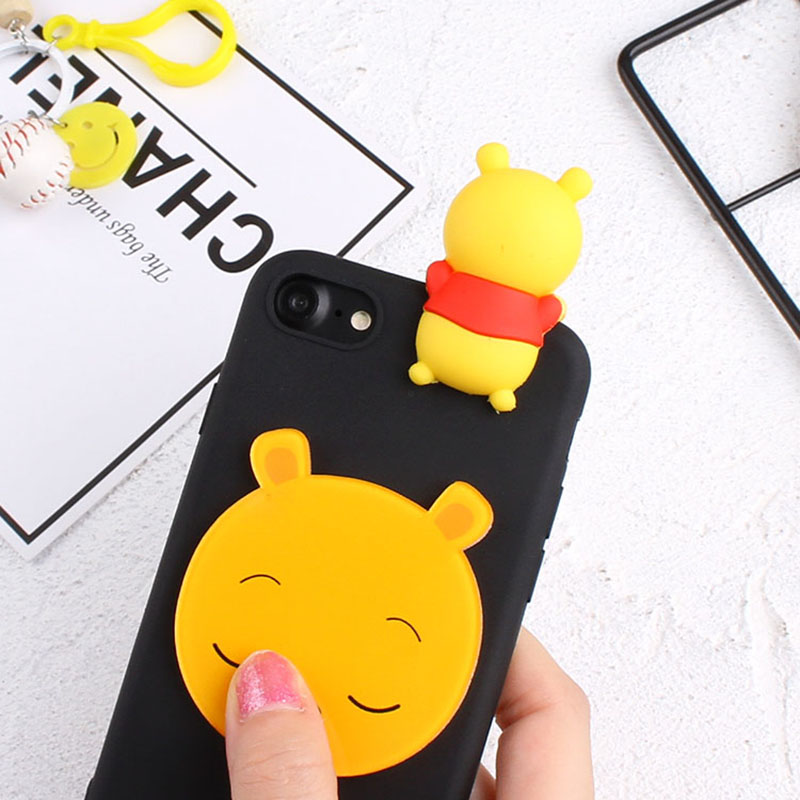 3D Cartoon Mickey Minnie Case For Google Pixel 2 Pixel 2 XL Cute Duck Tiger Bear Soft Cover