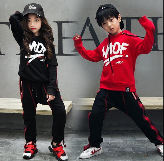 New Spring Autumn Children's Clothes Set Kids Hip Hop Clothing Outfit Long Sleeve Sports Suit Child sweatshirt +Pants 2Pcs Sets