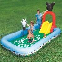 Детский большой надувной бассейн с надувная горка с бассейном для детей, младенцев, новорожденных ванна надувной круг для купания ребенка б