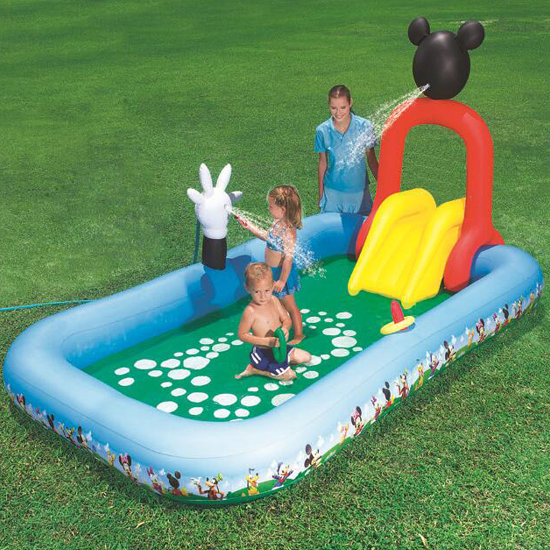 Baby Large Inflatable Swimming Pool with Inflatable Slide Pool Child Baby Kids Infant Bath Tub inflatable baby swimming pool 338 167 129cm inflatable inflatable slide pool sea pool pool baby children swimming pool fishing thickening basin