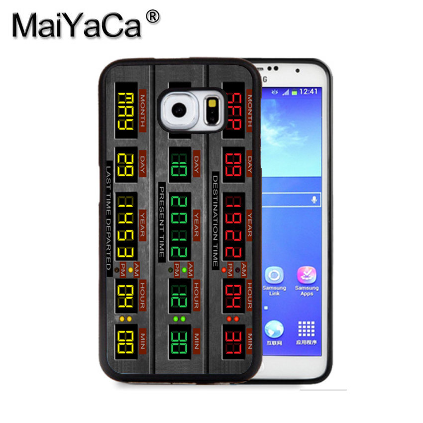 MaiYaCa Time Circuits Back to the Future Phone Case For Samsung S9 S8 Plus S7 S6 Edge Plus Note 8 7 5 S5 S4 Mobile Rubber Cases
