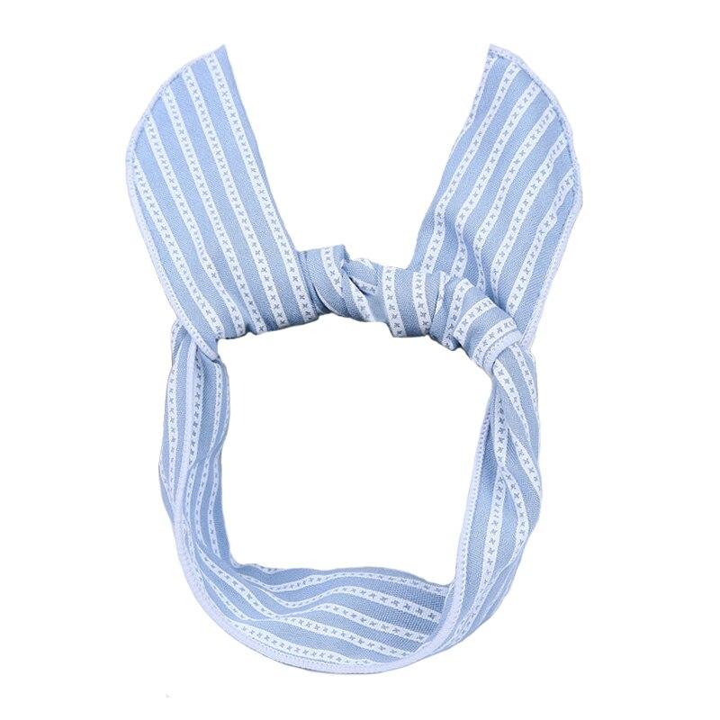 Sweet Ladies Floral Striped Headscarf Wire Bandana Headband Bunny ...
