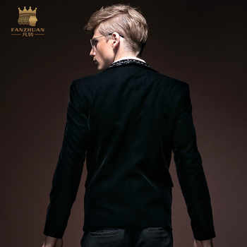 FanZhuan free shipping new male men\'s fashion casual business gentleman long-sleeved Slim suit blazer jacket 14033 embroidery