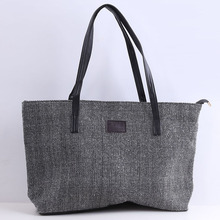 Canvas Women Bag Large Women's Shoulder Bag Female Casual Totes Appliques Portable Shopping Bag Lady Casual Handle Bag OR900615